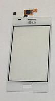 Оригинальный тачскрин / сенсор (сенсорное стекло) для LG Optimus L5 E610 | E612 (белый цвет)