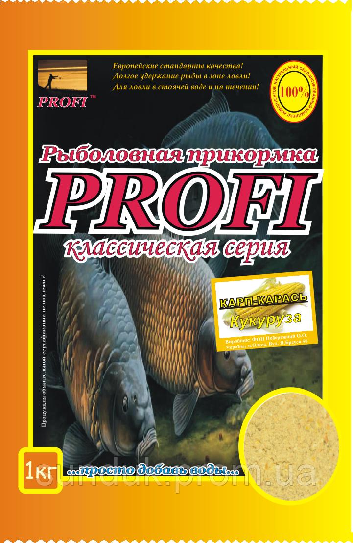 Рыболовная прикормка Profi Карп-Карась (Кукуруза)