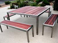 Садовая мебель стол и стулья из дерева