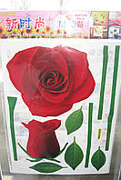 Наклейки-стикеры 3D декоративные интерьерные обьемные 40 х 30 цветы2 40 х 30