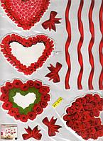 Наклейки-стикеры 3D декоративные интерьерные обьемные 40 х 30 цветы3    32  х  24
