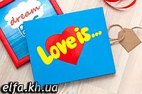 """Шоколадный набор """"Love is""""  (20 шоколадок)"""