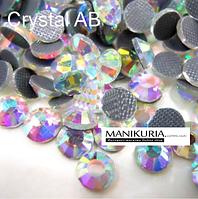 Стразы стекло, ss10 Crystal AB Hotfix 1440 шт. Горячей фиксации.