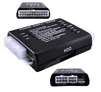 Тестер блоков питания БП PC 20/24 Pin PSU ATX SATA HD Power Supply Tester