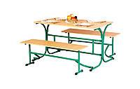 Стол обеденный с откидными лавками, фото 1