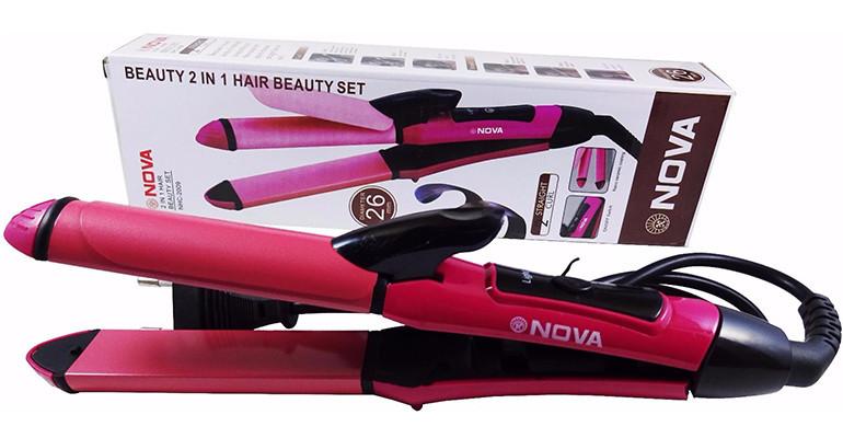 Выравниватель, плойка  для волос 2 в 1 Nova NHC-2009 керамическое покрытие
