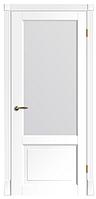 """Межкомнатные шпонированные двери """"Милан ПО"""" со стеклом 2-х сторонний сатин"""