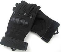 Тактические перчатки Oakley с пальцами черные