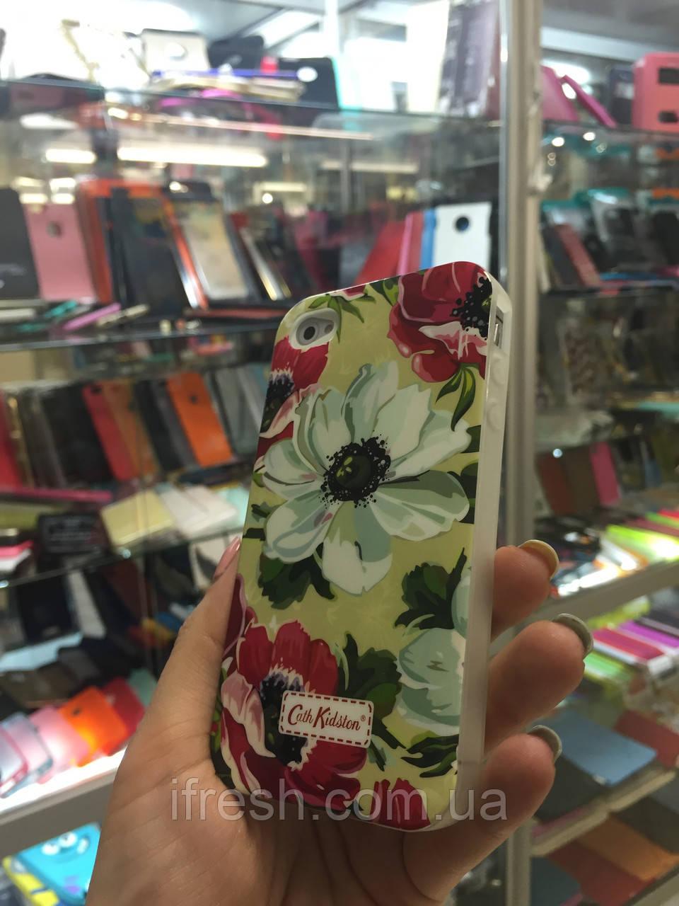Чехол силиконовый FLOWERS для iPhone 4/4s, kosmeja