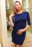 Женское трикотажное короткое платье с молнией на груди , фото 1