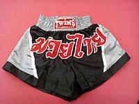 Шорты Муай Тай (для тайского бокса) TWINS черно-серые