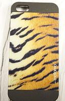 """Пластиковый Чехол """"Motomo Skin tiger"""" для Apple iPhone 5/5S Чехол для айфона"""
