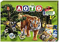Игра настольная «Лото» в картинках В мире животных,  Danko Toys