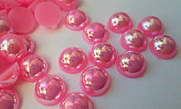Полужемчуг Pink AB (розовый), 8 мм. Цена за 100 шт, фото 1