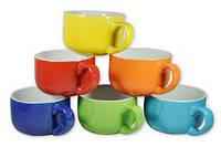 Цветная керамика, кружка зеленая, кружка крвсная, кружка желтая, кружка черная, кружка голубая, кружка оранжев