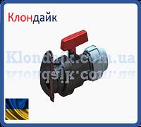 Шаровый кран зажимной для шланга Лейфлет и трубы ПНД 40
