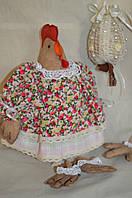 """Кофейная игрушка , украшение для корзины """"Курица-модняшка вплатье прованс"""",250/210,38 см (ручная работа)"""