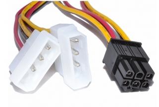Кабель 6pin PCI - 2molex (Video power) #100162