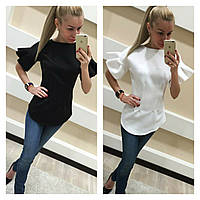 Элегантная блузка с воланами (арт. 255875360)