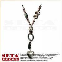 """Подвеска (ожерелье, колье) """"Сердце"""" на длинном замшевом шнурке серое"""
