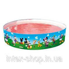 Каркасный бассейн с жесткими бортами Miki Maus Bestway 91009