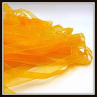 Лента из органзы, 0,6 см, оранжевая