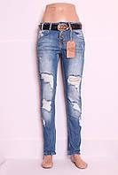 Женские турецкие рваные джинсы бойфренды, фото 1