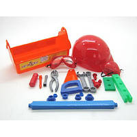 Набор юный плотник с каской в чемодане 21 предмет 32-005