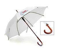 Зонт-трость полуавтомат, 9 цветов, с нанесением логотипов, для подарка и в рекламных целях