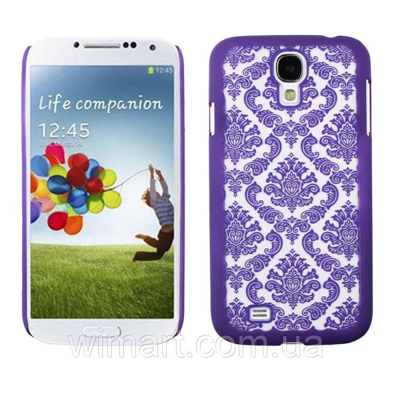 Пластиковый чехол Vintage Damask Purple для Samsung Galaxy S4 i9500