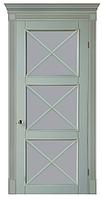 """Межкомнатные шпонированные двери """"Рим-Итальяно ПОО"""", со стеклом 2-х сторонний сатин"""