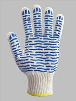 """Перчатки рабочие трикотажные с ПВХ рисунком с одной стороны""""Волна"""",  (тм Doloni, арт.621)"""