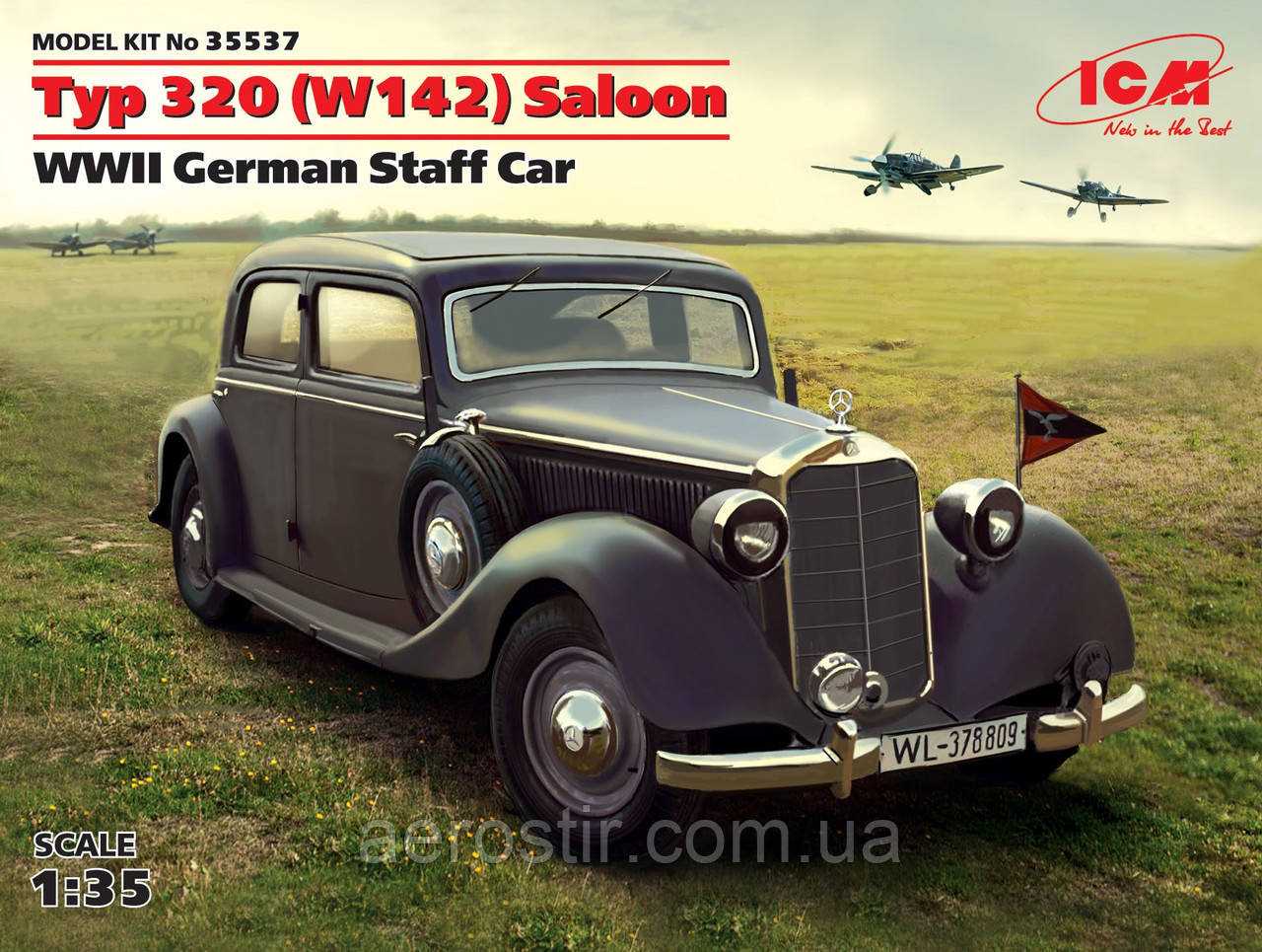 Typ 320\ w142\ Saloon   ww II  German Staff Car    1\35       ICM