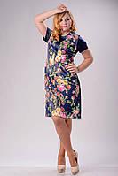 """Стильное платье для пышных дам """" Цветы """" Dress Code, фото 1"""