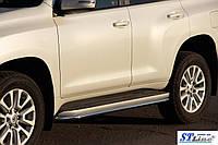 Toyota LС 120 Prado Защита бокового порога BB004 (2 шт, нерж.)