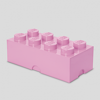 Восьми точечный светло розовый контейнер для хранения Lego 40041738