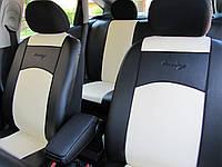Чехлы на сиденья авто экокожи разные цвета универсальные STANDART