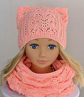 Вязаная шапка с ушками , фото 1