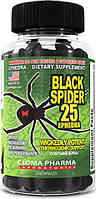 Black spider 25 ephedra Cloma Pharma, 100 капсул
