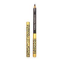 [ Карандаж и трафарет для макияжа ] 4 трафарета для бровей + 1 карандаш с щеткой для бровей Серо-коричневый