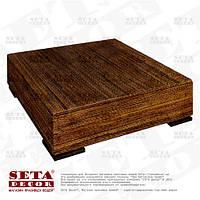 Абаковый кофейный, журнальный стол (оплетённый веревкой из абаки)