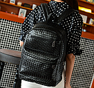 Стильный кожаный плетенный рюкзак., фото 4