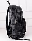 Стильный кожаный плетенный рюкзак., фото 2