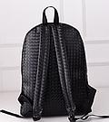 Стильный кожаный плетенный рюкзак., фото 3