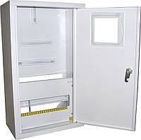 Щит ШМР-3ф.мех-12А-Н распределительный металлический для 3ф. индукц. счетчика и 12 автоматов навесной