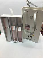 Подарочный парфюмерный набор с феромонами  женский Versace Bright Crystal (Версаче Брайт Кристалл) 3x15 мл