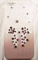 """Пластиковый чехол со стразами """"Moth"""" для Apple iPhone 5/5S Чехол для айфона"""