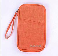 Дорожный органайзер для документов и билетов Travelus оранжевый