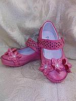 """Нарядные туфли с цветами для девочки """"TOLE""""(розовый) р-ры 25-30"""