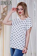 Женская батальная трикотажная футболка с принтом звезд